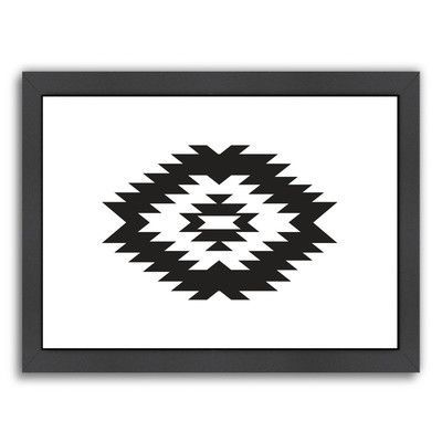 "Varick Gallery Beckett Southwestern Framed Graphic Art Size: 20.5"" H x 26.5"" W x 1.5"" D"