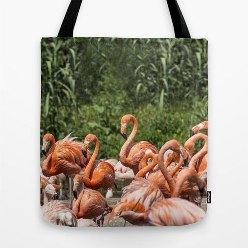 Art Tote Bag, Flamingo, Bag, Beach Tote, Art Tote, Tote Bag, Photo, Art, Photo Bag, Art bag, Handbag, Tote, Canvas Bag, Grocery Tote HipBag