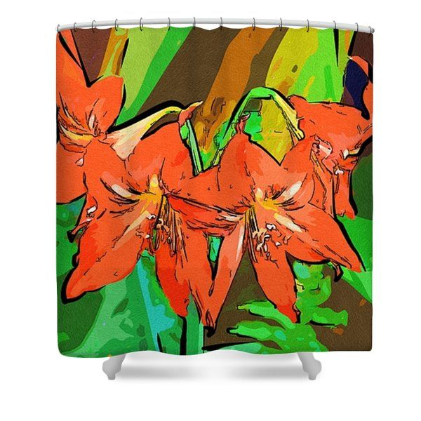 Arts With Flowers Shower Curtain #flowers #art #poster #gifts