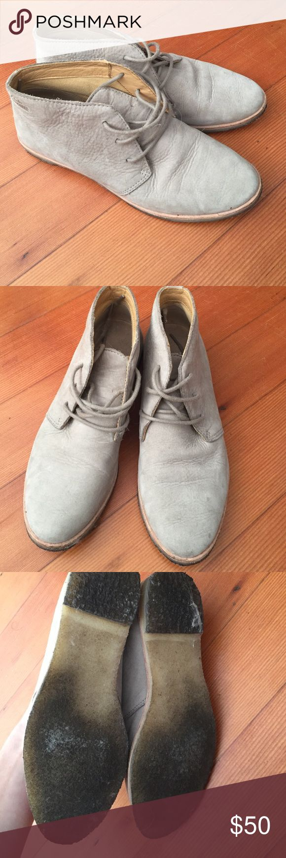 Clarks Chooka boots size 6 light grey suede Barely worn light grey suede Chooka boots size 6 Clarks Shoes Ankle Boots & Booties