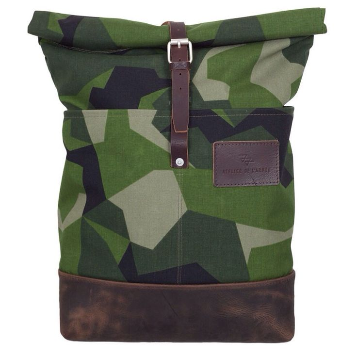 Swedish army M90 camouflage - roll top backpack