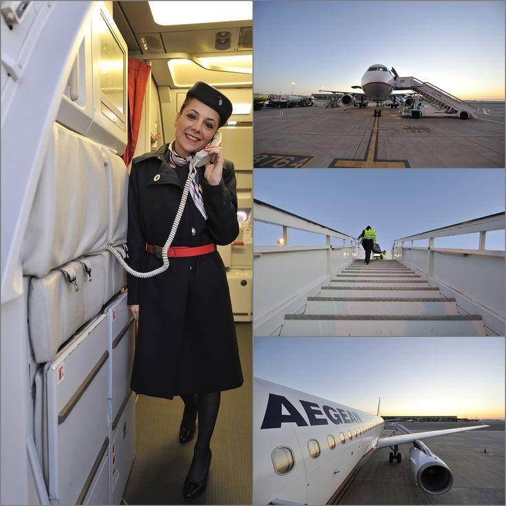 2.Καθώς χαράζει πλήρωμα και προσωπικό εδάφους προετοιμάζουν την πτήση.