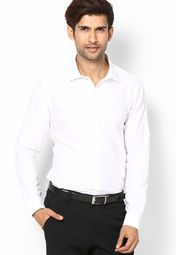 Dress to impress by wearing this white coloured formal shirt for men from the house of United Colors of Benetton. Made from cotton, this regular-fit shirt is highly comfortable and style. Team it with black coloured formal trousers to look suave.
