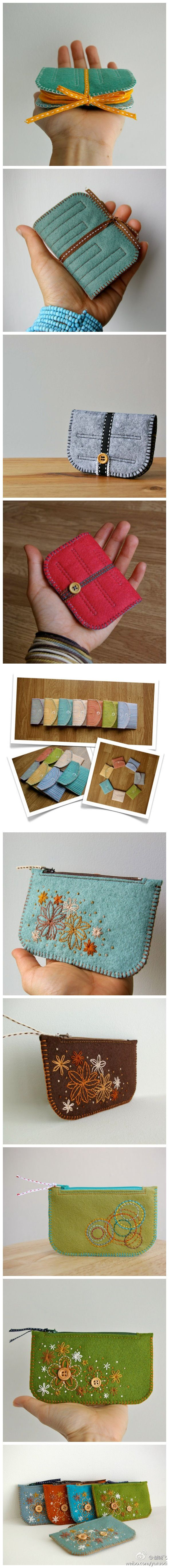 Cute diy pouch inspiration......website is Chinese....