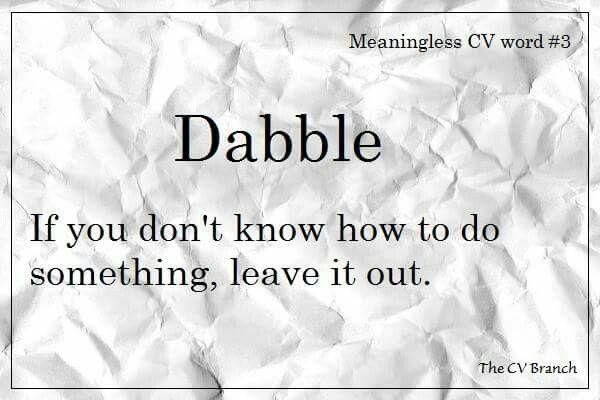 Meaningless CV word #3 #TheCVBranch #professionalCVwriting #CVtips #editor