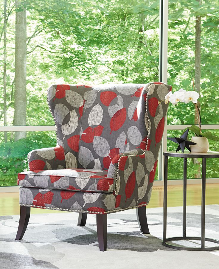 The La-Z-Boy Moscato chair offers a modernized take on a traditional wingback chair. Plus, PIN TO WIN an ottoman! Get contest details at http://houseandhome.com/la-z-boy | #LaZBoy #Furniture #Chair #LivingRoom