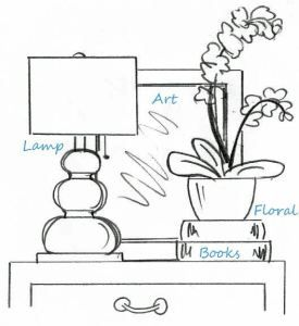 table top vignette display formula
