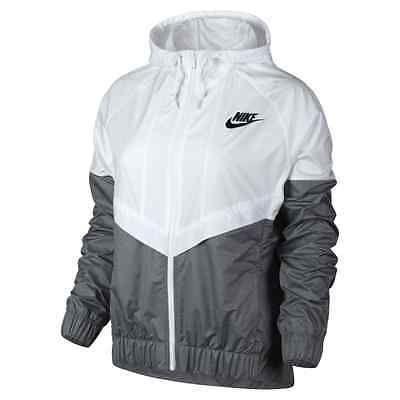 Nike WindRunner Women s Jacket Windbreaker White Grey 726139-100 Asia Size  in 2019  6e2e5f86c443