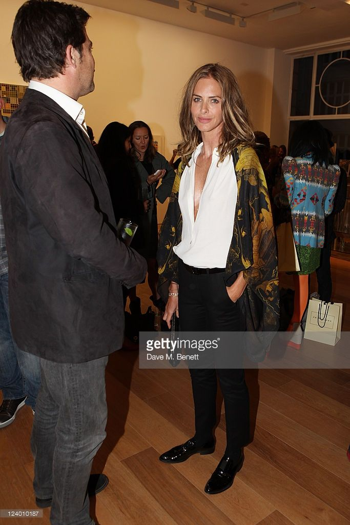 Trinny Woodall attends the debut screening of a short film collaboration between Bella Freud and...