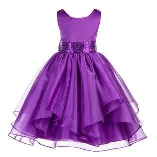 Image result for purple flower girl dresses