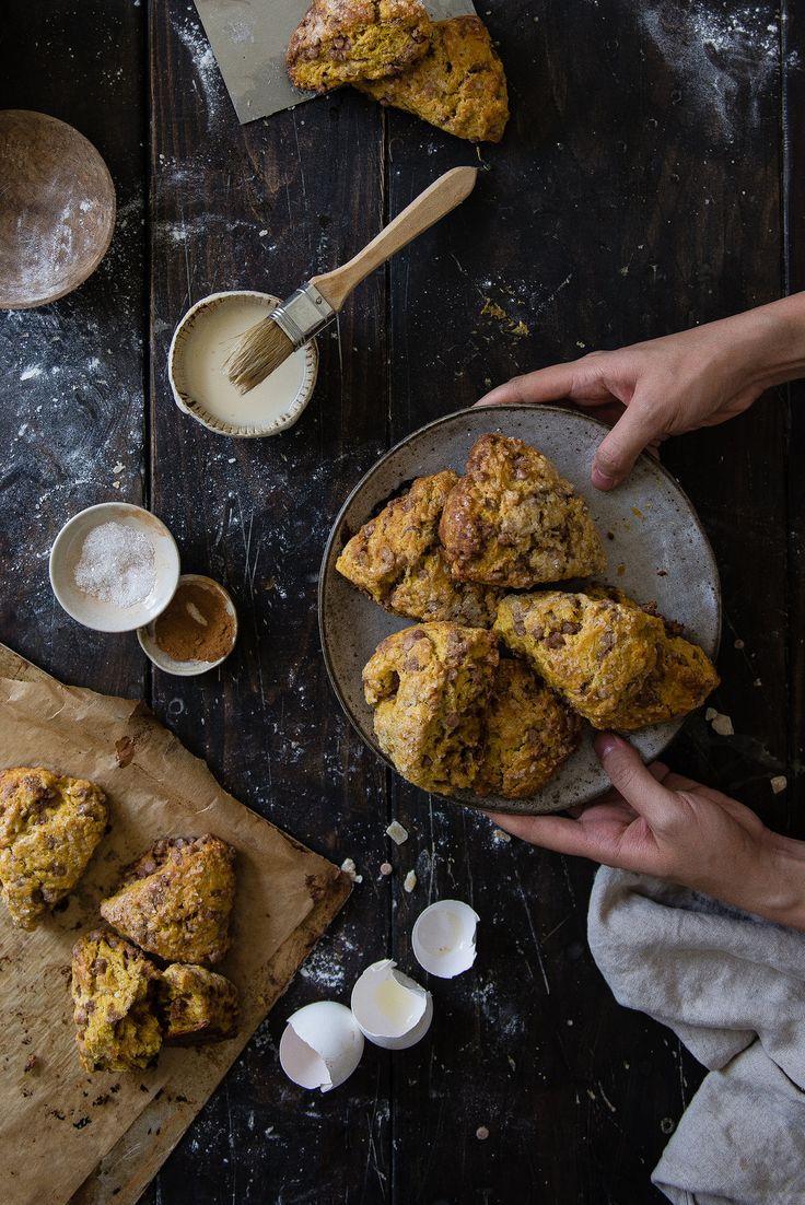 kaf harvest pumpkin scones | two red bowls