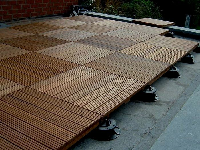 Bison Paver Trays Helps Install Stone On A Raised Platform Available At Deck Expressions Wood Deck Tiles Deck Tile Diy Deck