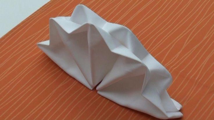 stoffservietten falten leicht gemacht faltanleitung f r tischdeko hd origami pinterest. Black Bedroom Furniture Sets. Home Design Ideas