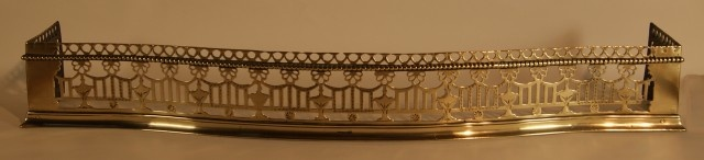 IRISH GEORGE III BRASS SERPENTINE FIREPLACE FENDER - UK Architectural Heritage