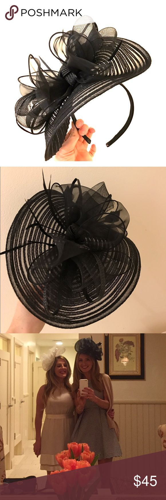 Black Fascinator Headband Black Fascinator Headband, perfect for your Kentucky Derby party...perfect condition. Bought new, custom made, worn once. Accessories Hats