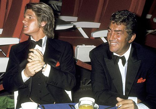 "Dean Martin and son Dean Paul Martin - ""Airport"" Hollywood premiere party - March 19, 1970"