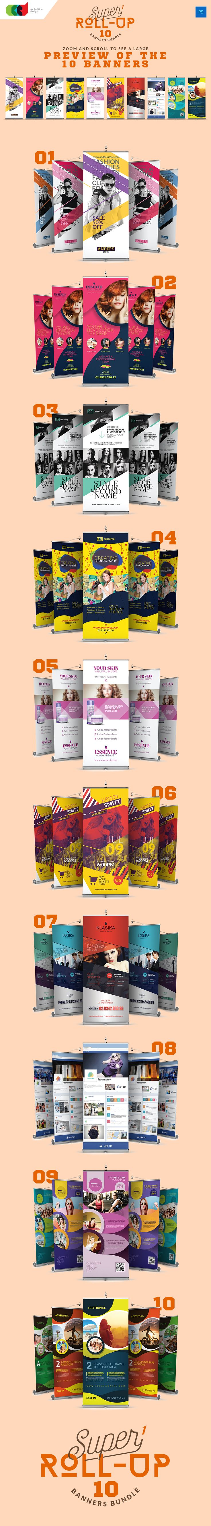 Super 1 - Roll-Up Banners Bundle - $17