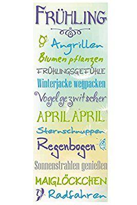 Bild Sprüche Frühling 80 x 30 cm