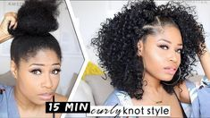 EASY 15-MINUTE SHORT NODES! | Cheveux How-to [Video] – Informations sur les cheveux noirs …   – Haircuts For Women