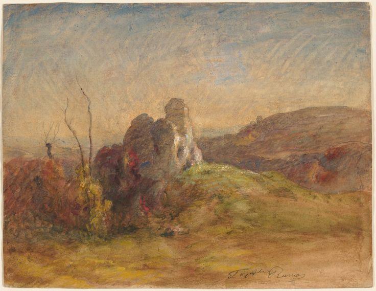 Paysage, entre 1870 et 1884, aquarelle et gouache avec mine de plomb et traces de craie noire, 27,7 x 35,9 cm, Cleveland Museum of Art.