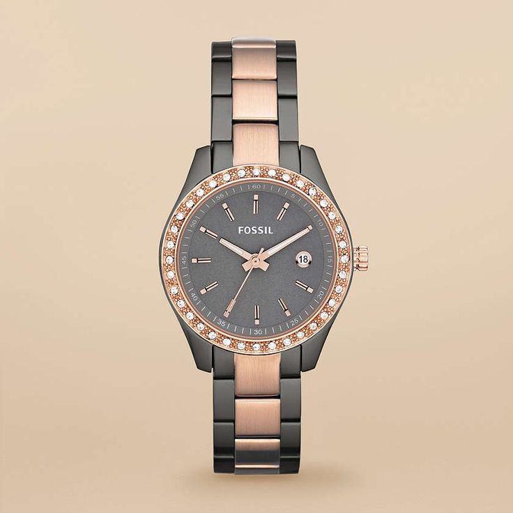 FOSSIL® Watch Collections Stella:Women Stella Mini Stainless Steel Watch – Smoke and Rose ES3032