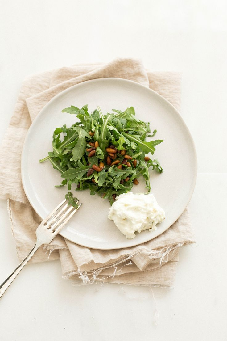 Whipped Feta with Arugula and Pine Nuts
