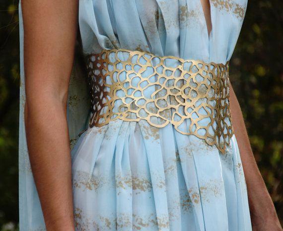 Qarth Gown Belt & Shoulder Pieces - Daenerys Targaryen Blue Dress Accessories - All sizes! For Halloween or Cosplay