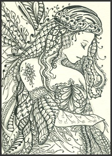 Princess Zentangle