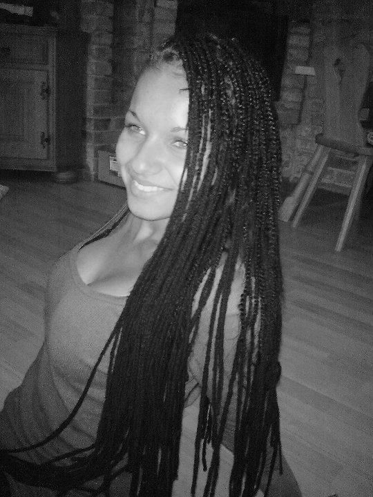 I and afro braids