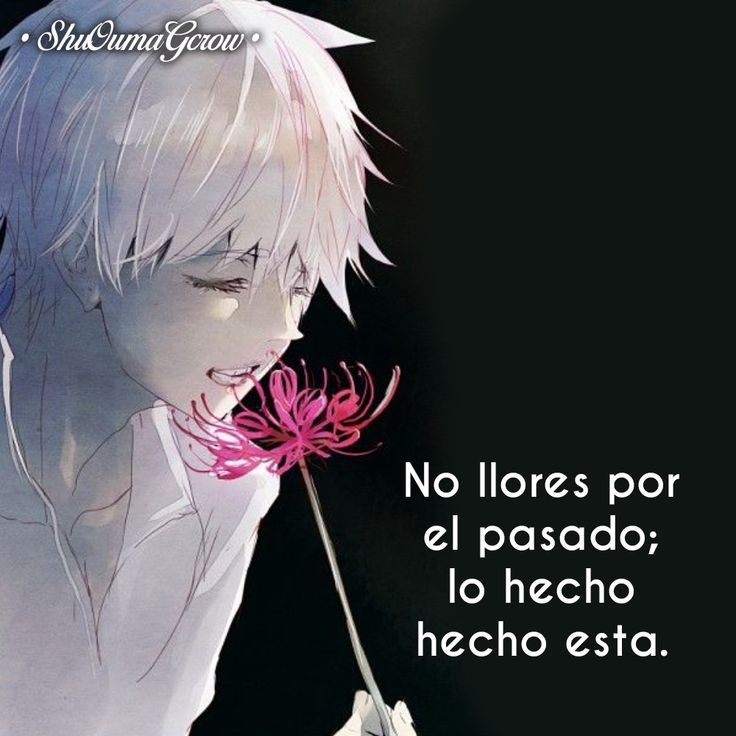 No llores #ShuOumaGcrow #Anime #Frases_anime #frases