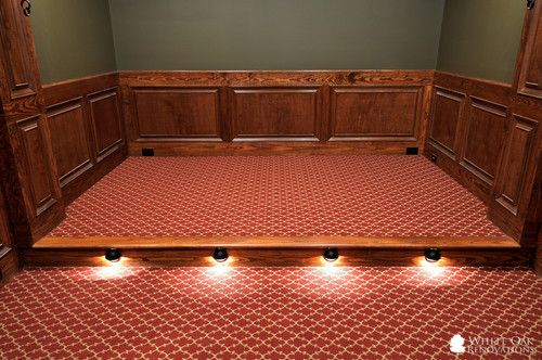 home theater floor lighting. floor lighting for home theater by white oak renovations theaters pinterest basements and basement r