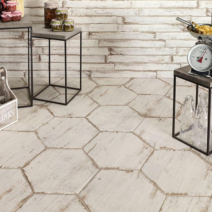 Merola Tile Retro Hex Blanc 14-1/8 in. x 16-1/4 in. Porcelain Floor and Wall Tile (10.76 sq. ft. / case)-FNURTXBL - The Home Depot