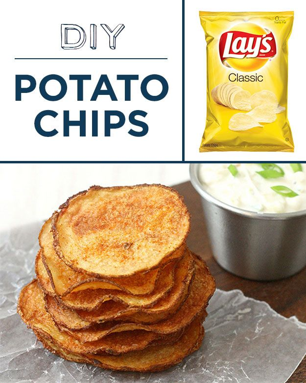 Try baking your own healthy potato chips. | 30 Foods To DIY Instead Of Buy