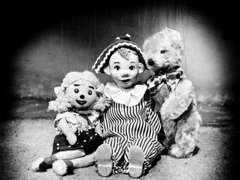 One of my earliest memories, Andy Pandy late 1950's to early 60's shown on BBC1 Watch With Mother at 1.30pm. Andy Pandy, Teddy and Looby Lou.