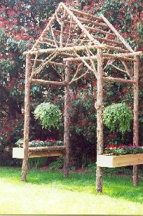 Detailed tips on making natural wood structures by www.rusticgardenstructures.com