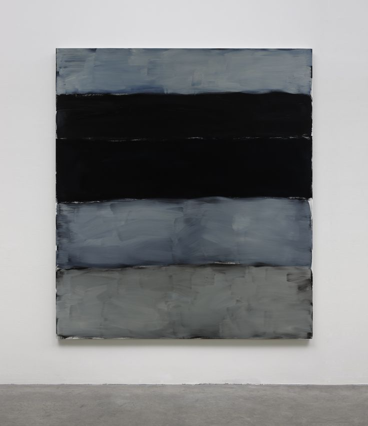Sean Scully 2014 Landlines Black And Blue oil on aluminium