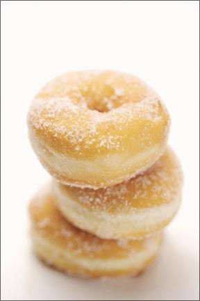 Try this recipe for Gluten Free Donuts courtesy of Dr. Stephen Wangen on G-Free Foodie.