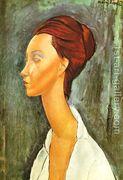 Portrait Of Lunia Czechovska  by Amedeo Modigliani