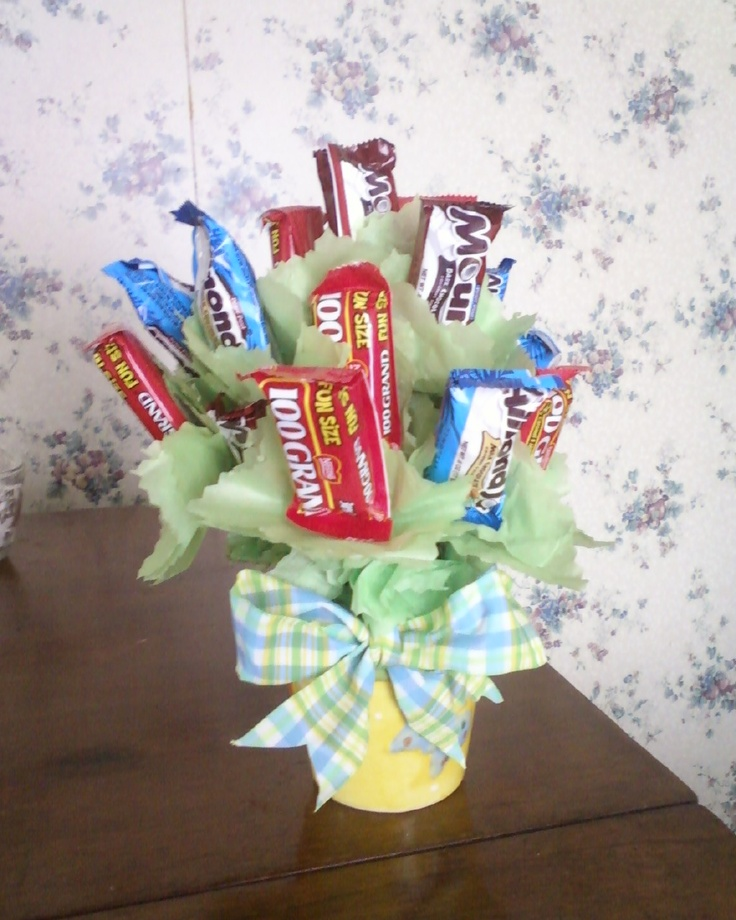 Candy Bar Bouquet I made for my Momma;'s 70th birthday. I