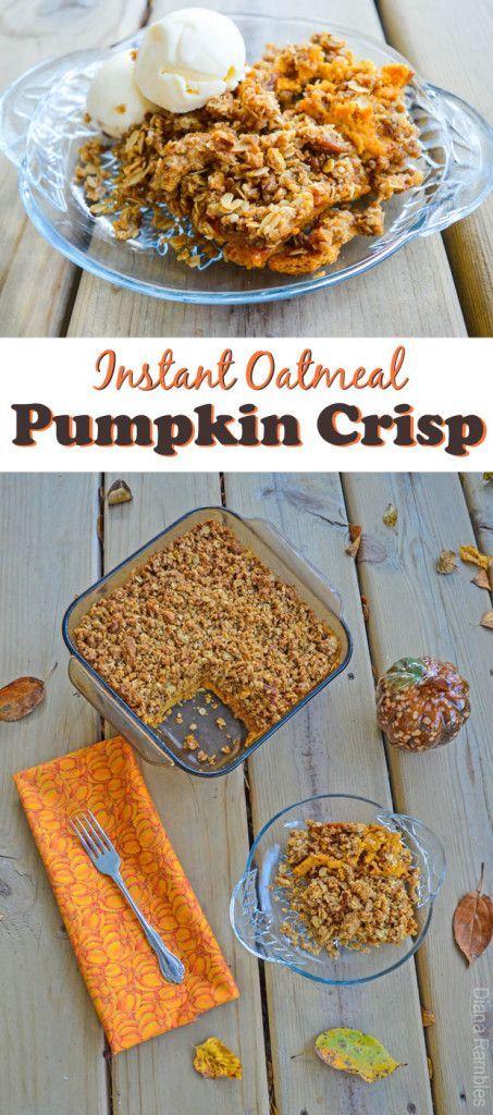Instant Oatmeal Pumpkin Crisp #recipe