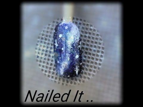 Galaxy Nail Art (Nailed It) | Easy Winter Nails Tutorial