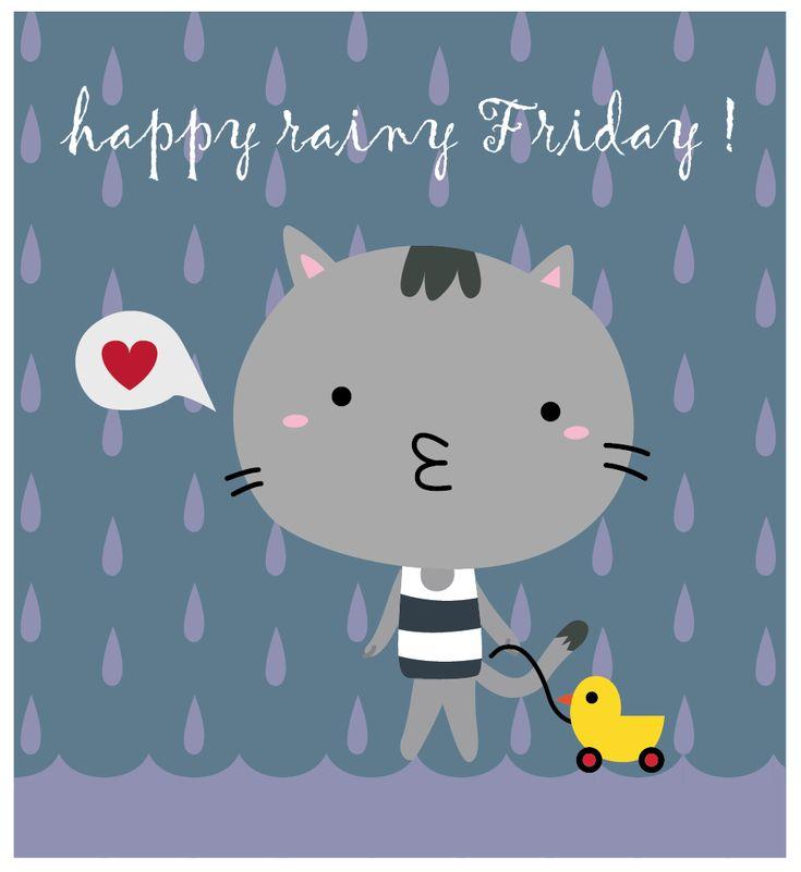 Clip Art Rainy Day Quotes: Happy Rainy Friday.