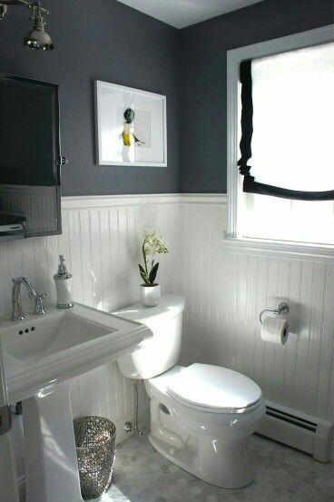Wooden panel bathroom