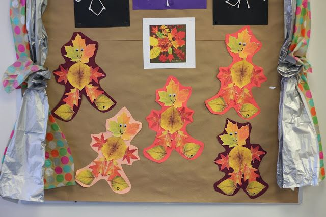Leaf Man-Students go on a leaf hunt after reading Leaf Man by Lois Ehlert and then make their very own leaf man. Projects helps with fine motor control, problem solving, color identification, and following directions.