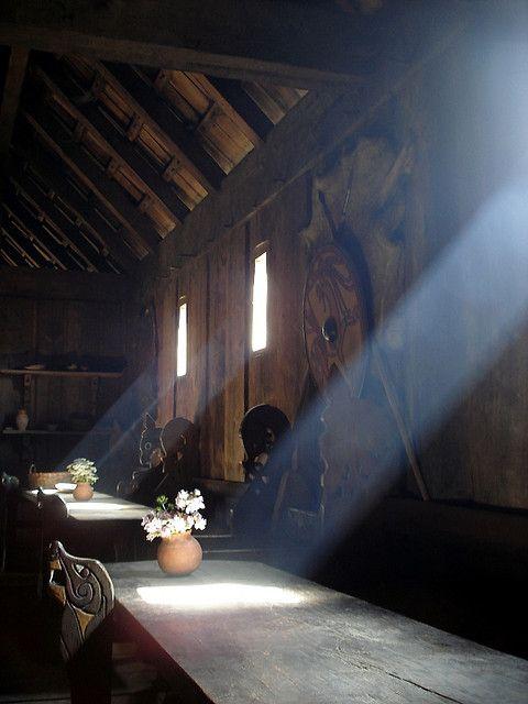 Bohemian Wornest - Viking longhouse in Ribe, Denmark.