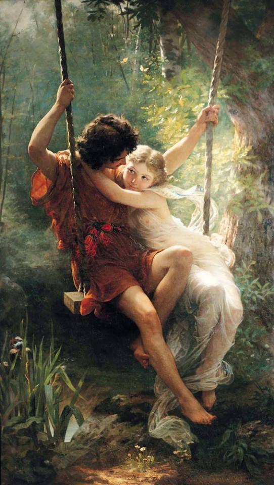 Pierre-Auguste Cot (Francia, 1837-1883) - Printemps, 1873. Pintura al óleo. MMA (Met)
