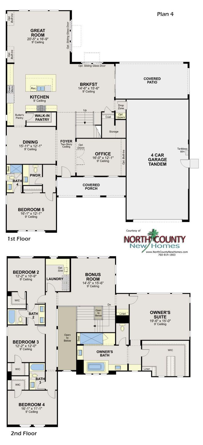 New Homes In Escondido Whiitingham In Harmony Grove Village New Homes In San Diego North Count House Layout Plans Luxury Floor Plans Luxury House Floor Plans