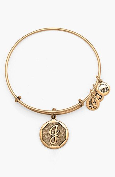 One with each kids' initials. Alex and Ani 'Initial' Adjustable Wire Bangle available at #Nordstrom
