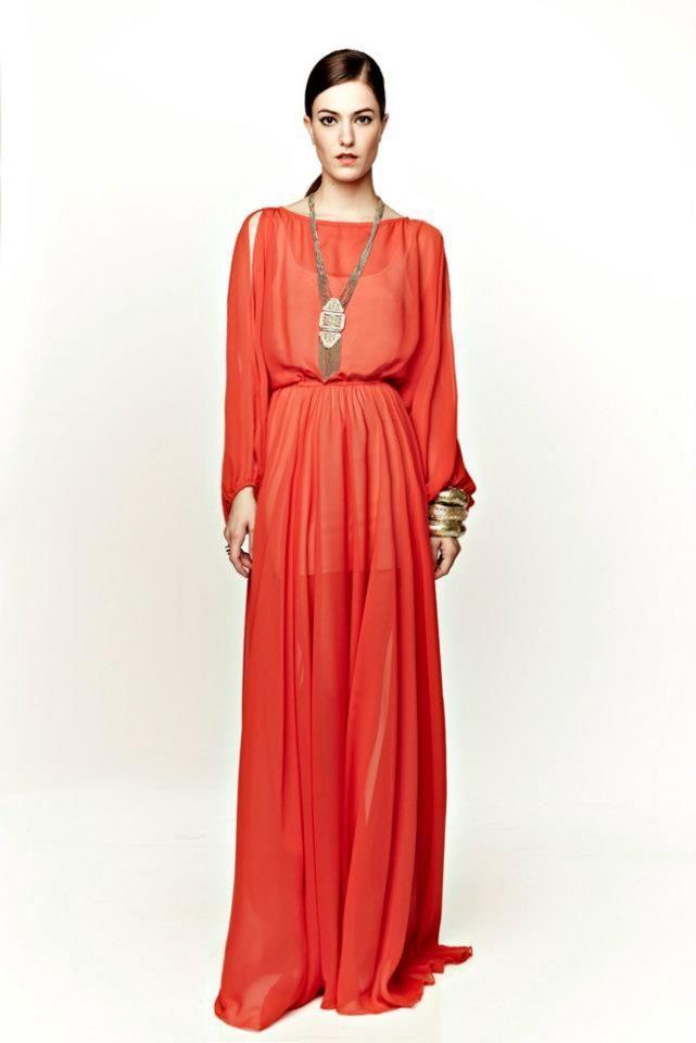 Coral Emperor Maxi Dress