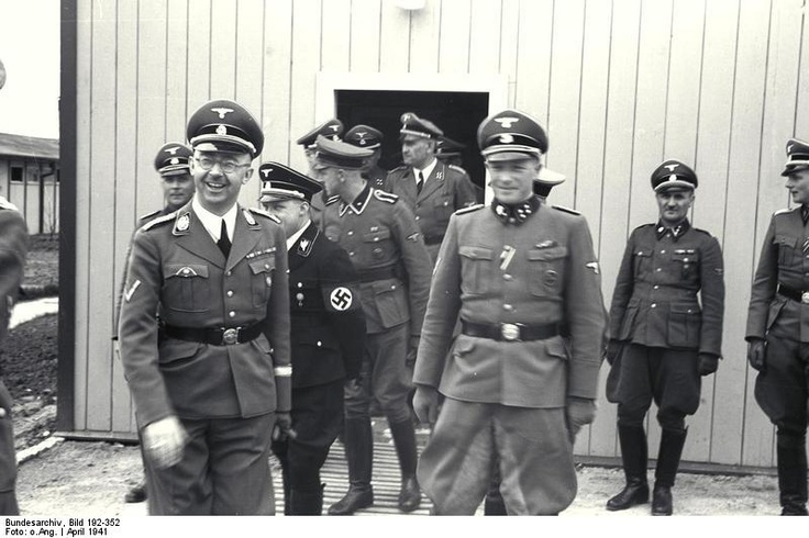 Heinrich himmler visits the mauthausen concentration and for Frank hering